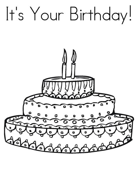 birthday coloring pages free printable birthday cake coloring pages for