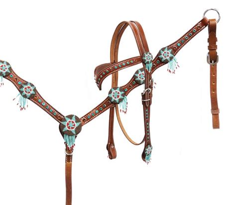beaded tack sets unique western headstall set beaded catcher pendant