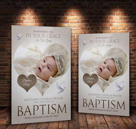 23 Baptism Flyer Templates Free Premium Download Baptism Template Psd