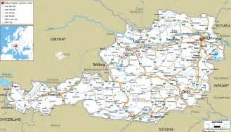 road map of austria ezilon maps