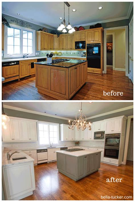 Painted Cabinets Nashville Tn Before And After Photos Painting Oak Kitchen Cabinets White Before And After