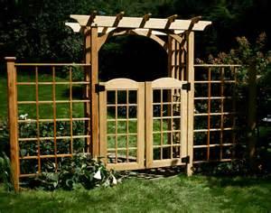 Garden Arbor Gate Cedar Canterbury Arbor W Gate 2 Wings