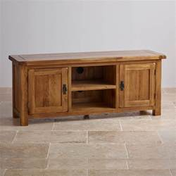 original rustic wide tv cabinet in solid oak oak