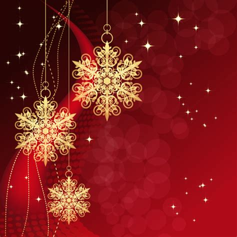 christmas snowflake baubles background vector vector