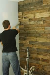 diy accent wall out of wood pallets bathroom pinterest