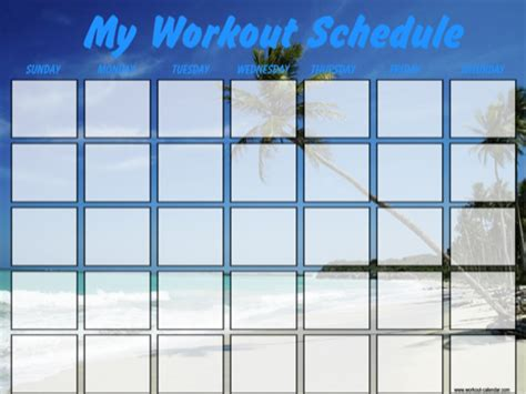 Ubc Part Time Mba Schedule by Workout Calendar Templates Free Premium For