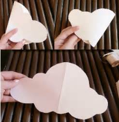 How To Make 3d Clouds Out Of Paper - diy paper cloud mobile tutorial