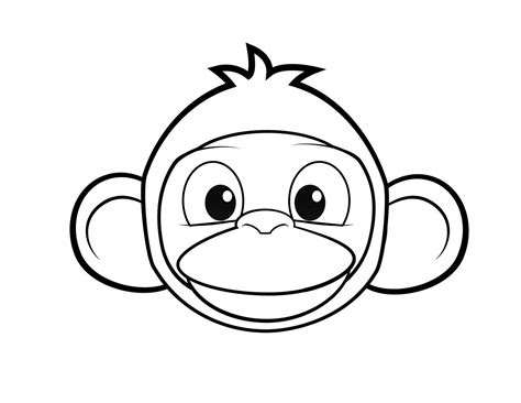 coloring page of a monkey face 90 coloring pages monkey monkey coloring pages 8
