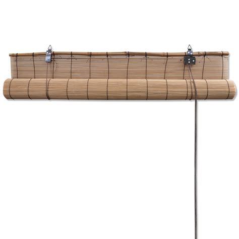 Bettdecke 80 X 160 vidaxl co uk brown bamboo roller blinds 80 x 160 cm