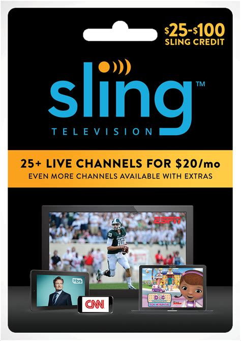 give the gift of live entertainment sports news and more with sling tv gift cards - Sling Tv Gift Card Online