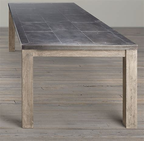 restoration hardware recalls metal top dining tables due