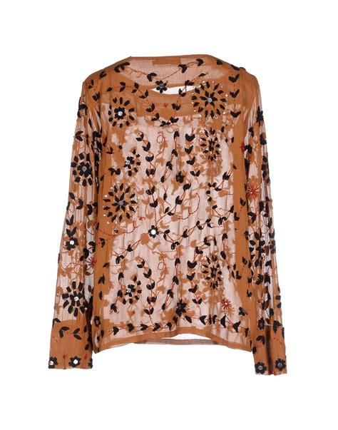 Batik Tops Brown by Lyst Antik Batik Blouse In Brown