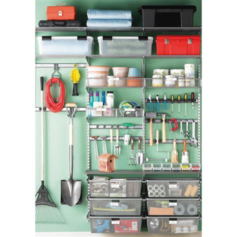 Elfa Garage Shelving Platinum Elfa Utility Garage Storage The Container Store