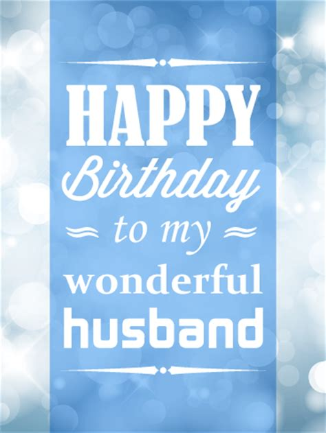 Happy Birthday To Husband And by To My Wonderful Husband Happy Birthday Card Birthday