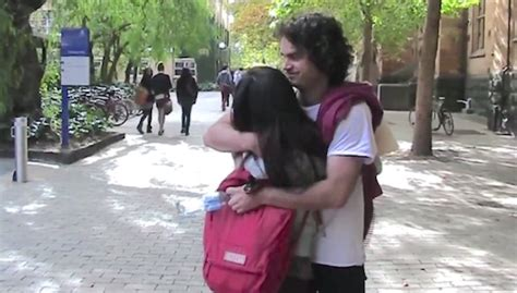 black man s free hugs project shifts love toward cops in positive psychology students learn by giving free hugs on