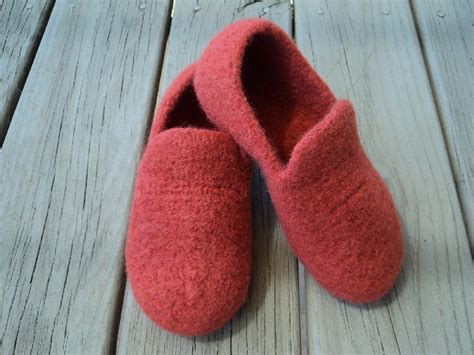 pattern felt loafer slippers felted knit for women knitting pattern by