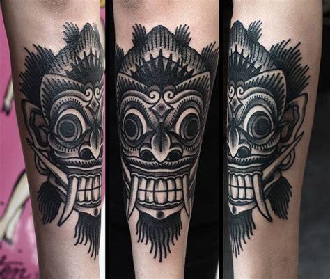 bali mask tattoos 16 fabulous balinese mask tattoos tattoodo