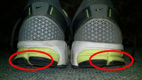 running shoe wear pattern overpronation shoe wear pattern this pic shoes the amount