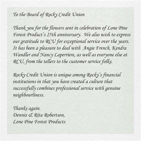 Credit Union Thank You Letter Search Results For Thank You Business Letter Calendar 2015