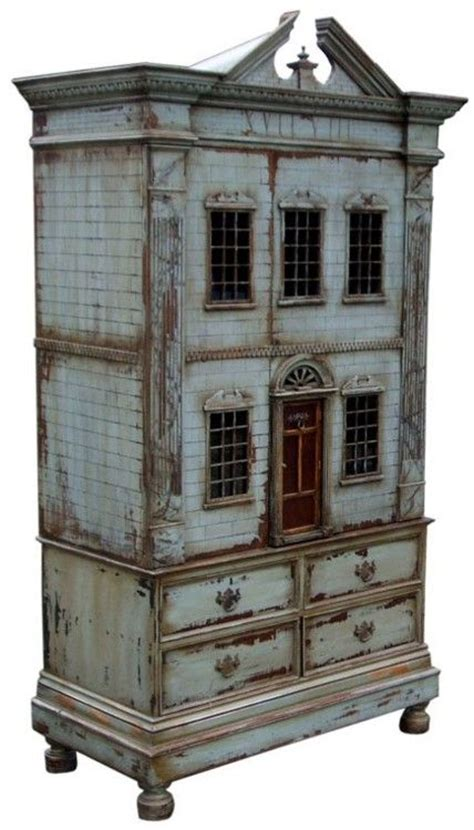 doll house cabinet i have a small cabinet i could alter baby house miniature house in a cabinet go