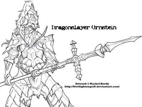 dragon slayer coloring page dragonslayer ornstein dark souls by 8twilightangel8 on
