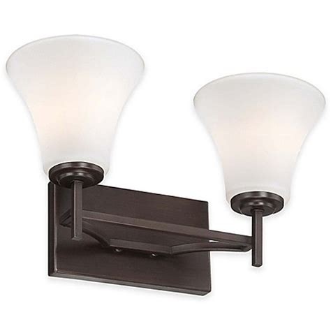 Minka Lavery Bathroom Lighting Fixtures Minka Lavery 174 Middlebrook 2 Light Wall Mount Bath Fixture In Vintage Bronze With Glass Shade