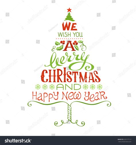 we wish you merry christmas happy stock vector 225177112