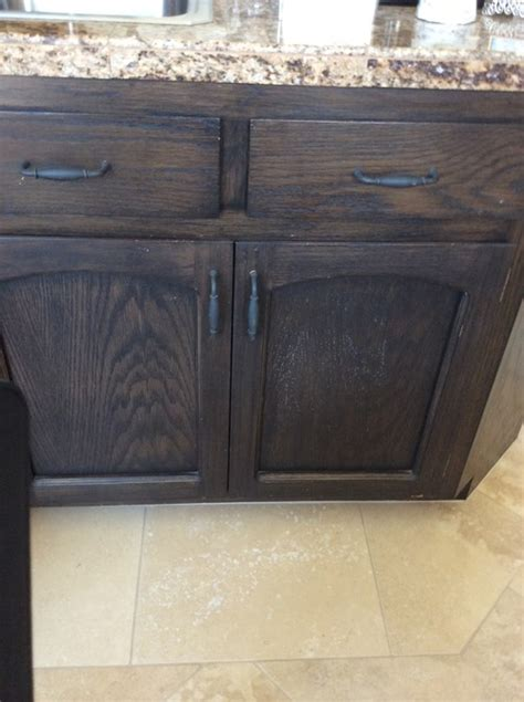 How To Update Old Dark Stained Cabinets Black Stained Kitchen Cabinets