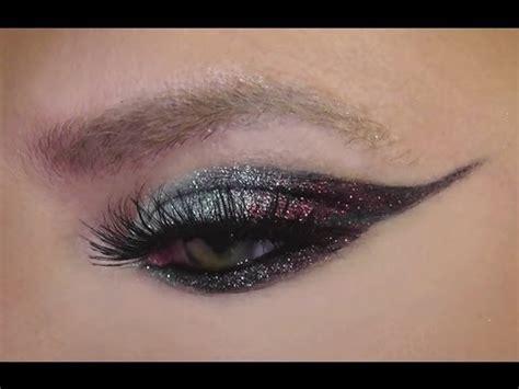 glitter eyeliner tutorial youtube glitter winged eyeliner tutorial youtube