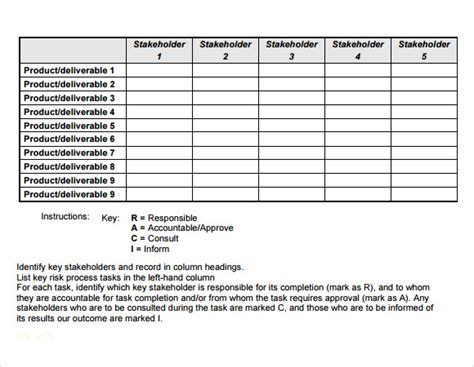 raci matrix template excel 28 images 5 raci matrix