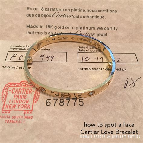 How To Spot A Cartier Ring by How To Spot A Cartier Bracelet Hawaii Estate
