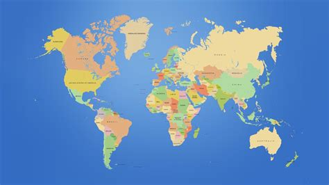 world map with country name hd wallpaper global map wallpapers wallpaper cave