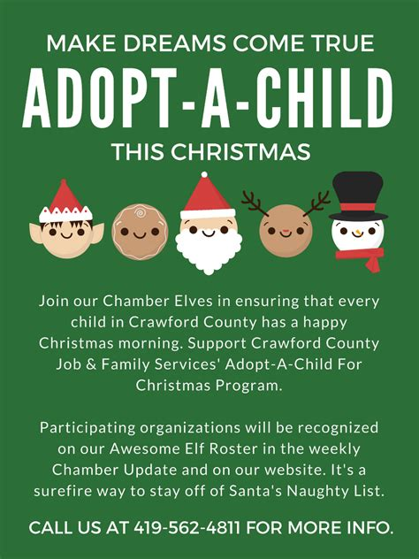 sponsor a child for christmas gift chamber elves make dreams come true bucyrus area chamber of commerce