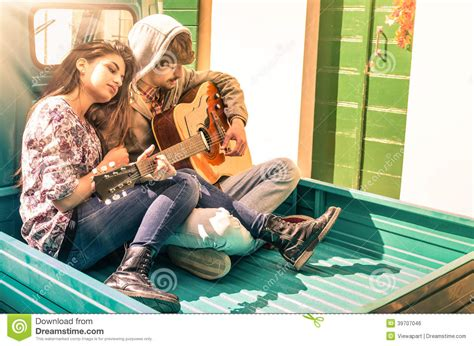 wallpaper guitar couple romantic young couple of lovers playing guitar outdoors
