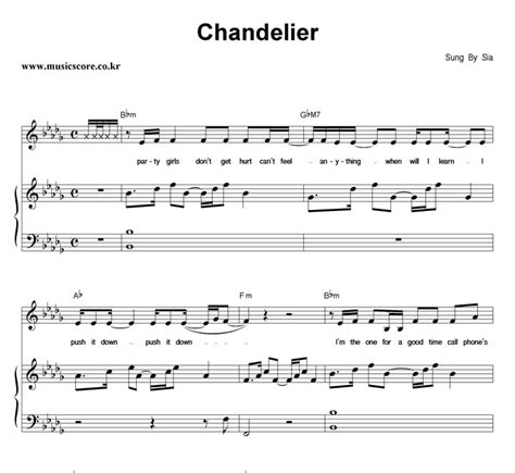 Sia Chandelier Chords Sia Chandelier Chords Chandelier Sheet By Sia Piano Vocal Guitar Right Melody 155055