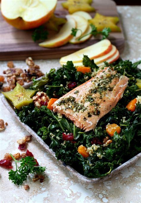 Kale Detox Salad With Pesto by Fall Kale Salad With Garden Pesto Salmon S Cravings