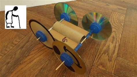 Make Cd Out Of Paper - toilet paper roll rubber band powered car