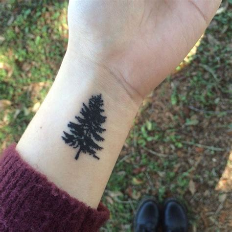 tiny tree tattoo small pine tree creativefan