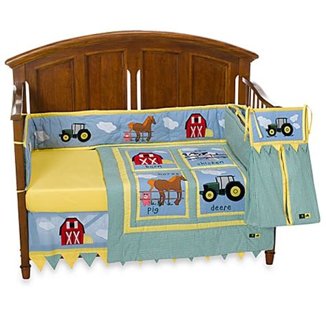 tractor crib bedding john deere tractor 4 piece crib bedding set and