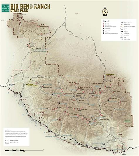 big bend texas map big bend ranch state park texas parks wildlife department