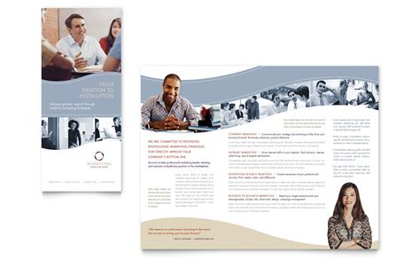 marketing brochure template marketing consulting brochure template word