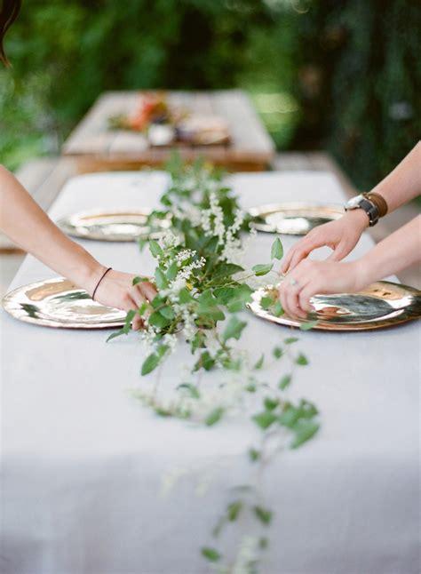 greenery wedding table garland  wed