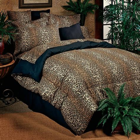 leopard bedding sets bed in a bag set featuring leopard animal print pattern