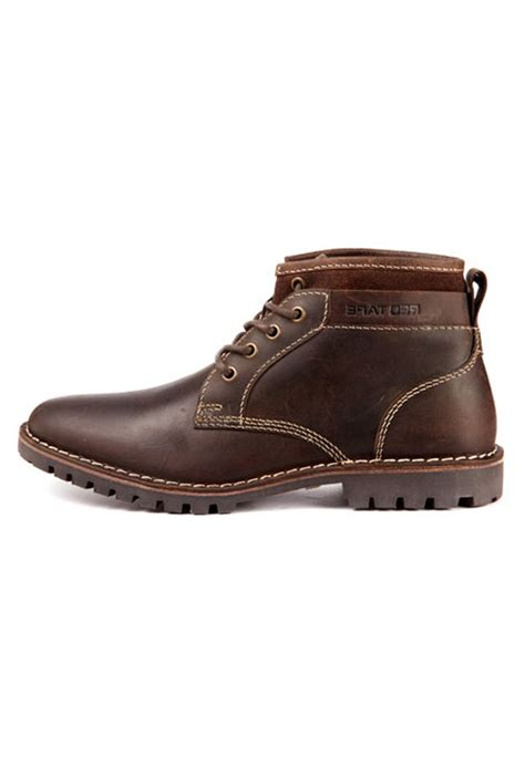 brown leather boots rts7752 footwear