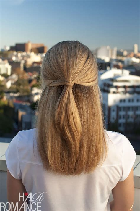 hairstyles for long straight hair tied up half up hairstyle inspiration hair romance