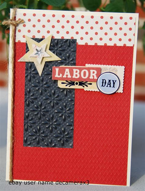 Independence Day Handmade Cards - handmade labor day card handmade by quinn handmade