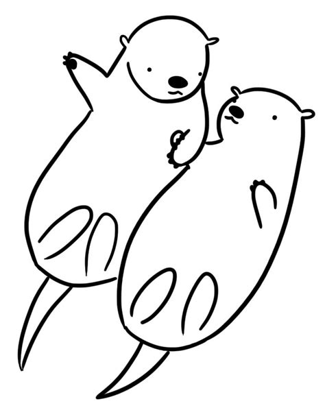 otter coloring pages preschool 25 best ideas about otter clipart on pinterest otter