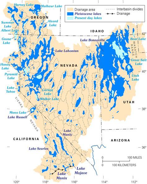 great basin american map great basin paleolakes