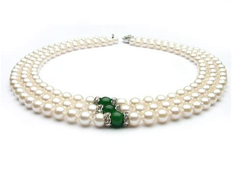 Pearl Necklace Strand White Akoya Pearl Necklace 7 7 5mm Aa Aaa
