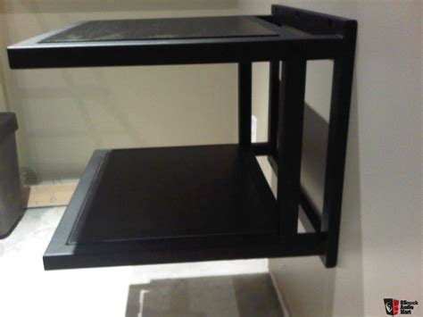 stereo cabinet with turntable shelf wall mount audio rack photo 1198163 canuck audio mart